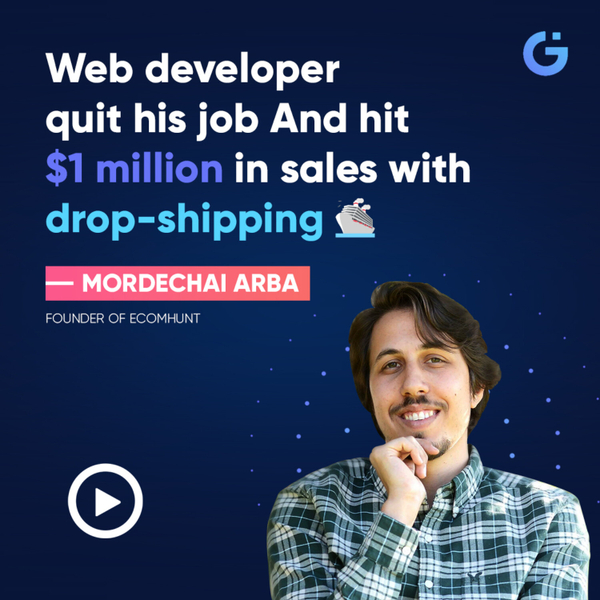 Web developer quit his job And hit $1 million in sales with dropshipping 🛳️ (Mordechai Arba) artwork