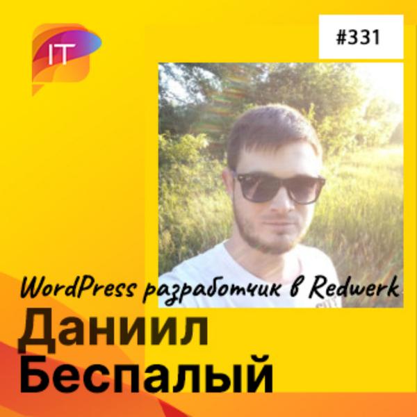 Даниил Беспалый – WordPress разработчик в Redwerk (331) artwork