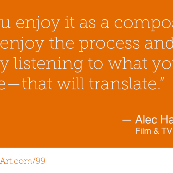 99 - Composing for film and tv from a home studio with Alec Harrison