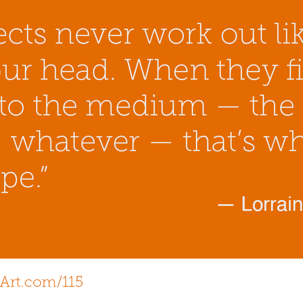 115 - Many talents can be your talent with Lorraine Harley artwork