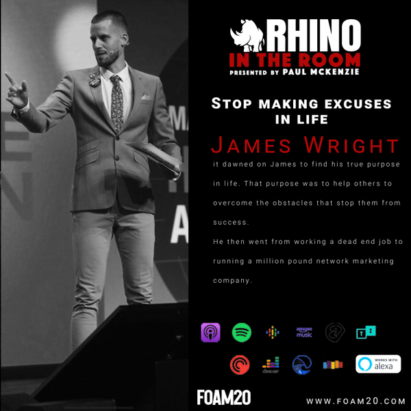 Stop Making Excuses In Life -James Wright artwork