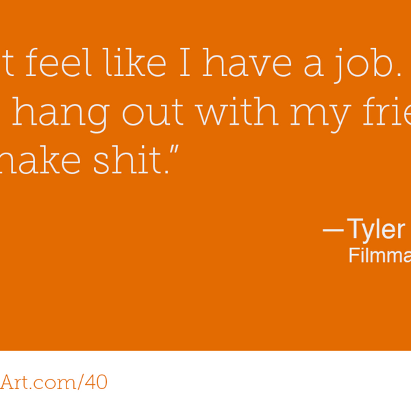 40 – When creative friends become creative family – Tyler Nilson and Mike Schwartz  artwork