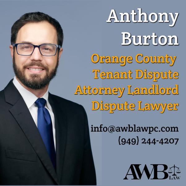 Anthony Burton -  Irvine Anaheim & Orange County CA Tenant Dispute Attorney Landlord Dispute Lawyer artwork