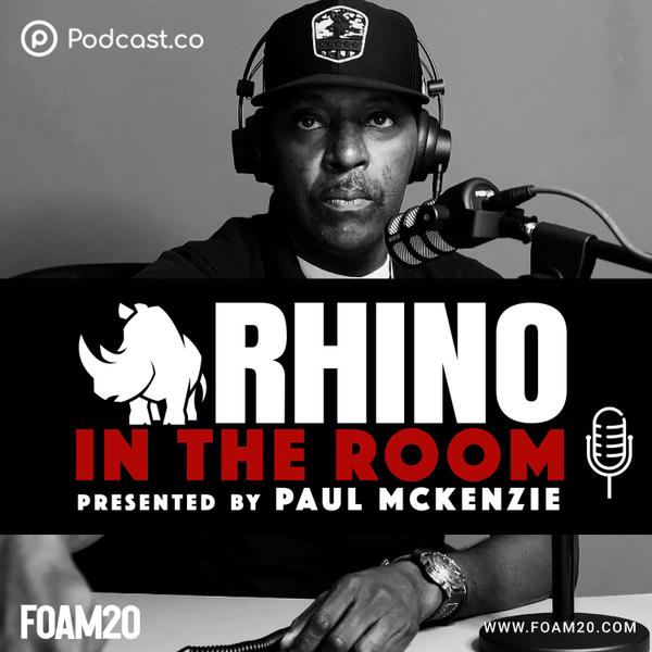 """RHINO IN THE ROOM"" with Paul McKenzie on FOAM20 artwork"