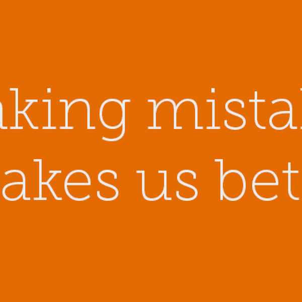 23 – Making mistakes makes us beter