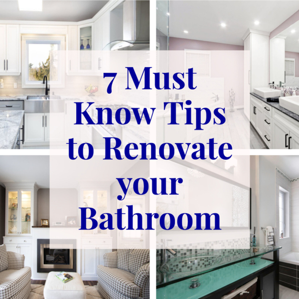 7 Must Know Tips for Renovating Your Bathroom artwork