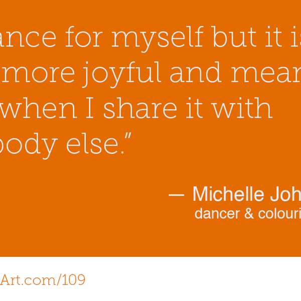 109 - Dancing, Teaching & Doodling with Michelle Johnson