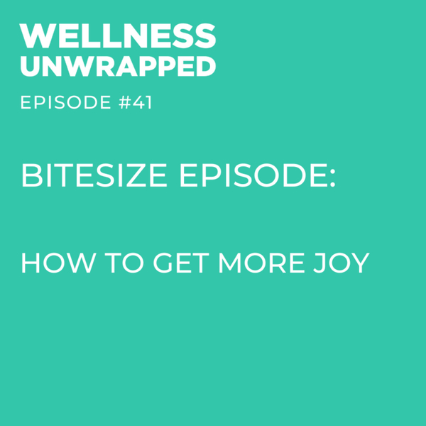 BITESIZE episode: How to get more joy - with Gillian Elizabeth artwork