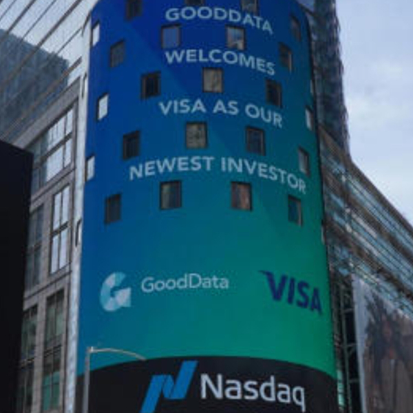 GoodData and Visa: A common data-driven future? Backstage chat featuring GoodData CEO and Founder Roman Stanek artwork