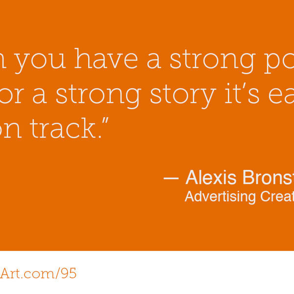 95 - Selling at the intersection of creativity and business with Alexis Bronstorph