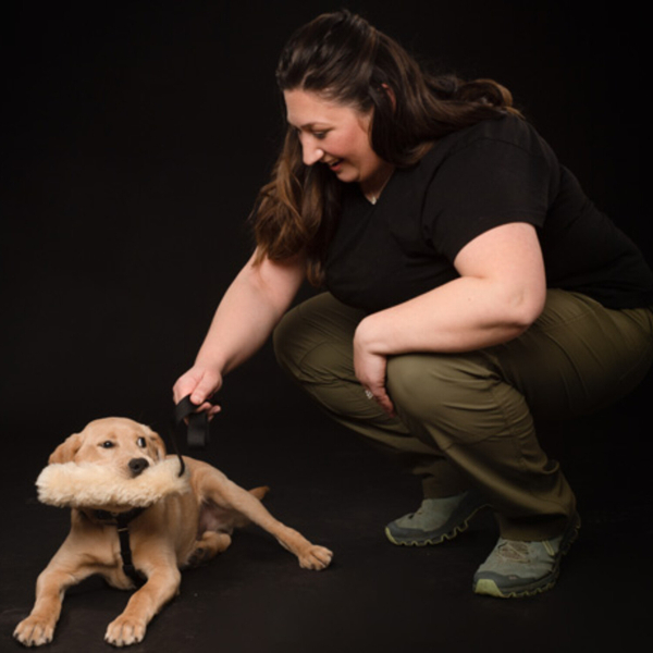 Co-Founder, CMO, Certified Professional Dog Trainer with LESLEY SHADE artwork