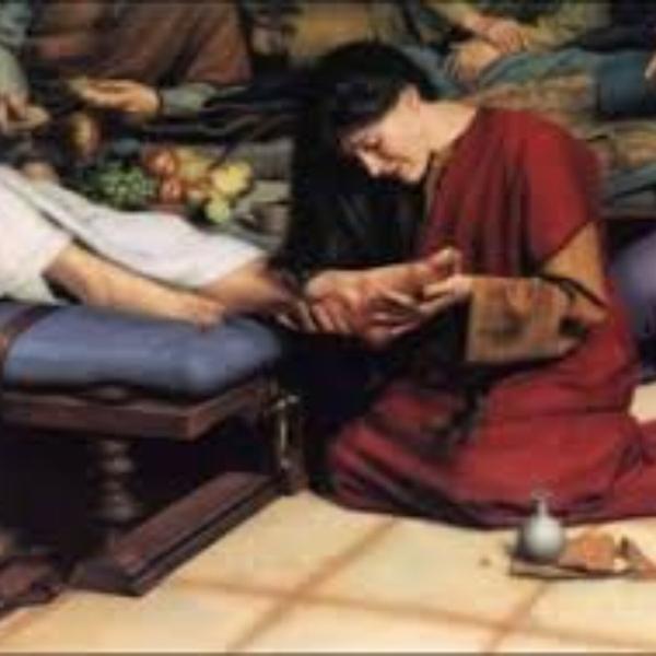 Ježíš přijímá lásku a vděčnost od lidí