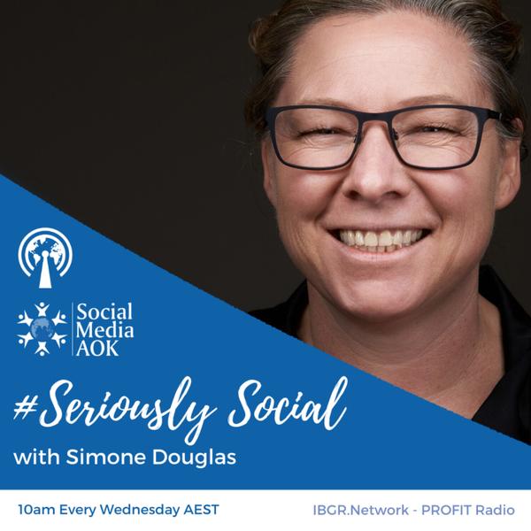 #Seriously Social with Simone Douglas artwork