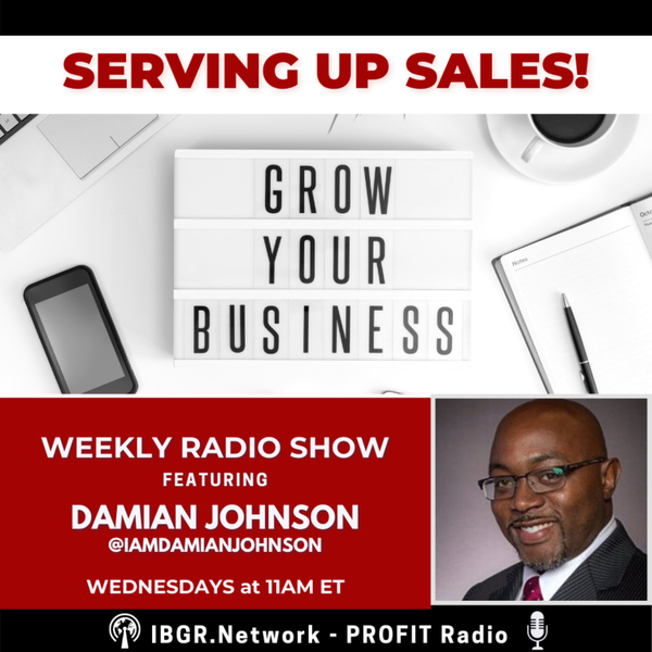 SERVING UP SALES! with Damian Johnson artwork