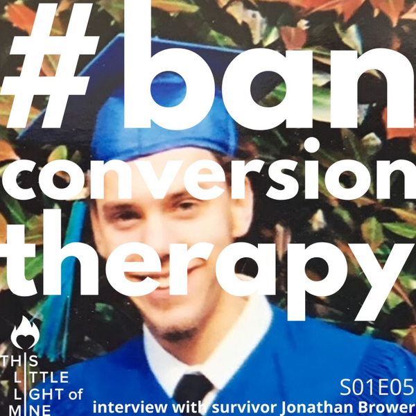 #BanConversionTherapy - with Jonathan Brower artwork