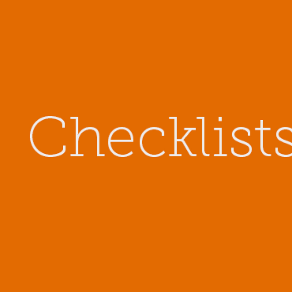 9 – How using checklists can get you to your art quicker. artwork