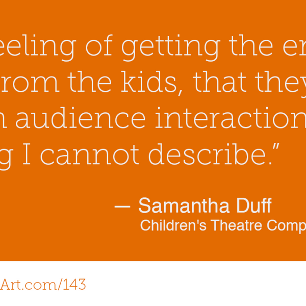 143 - The power of creating your own work with Samantha Duff