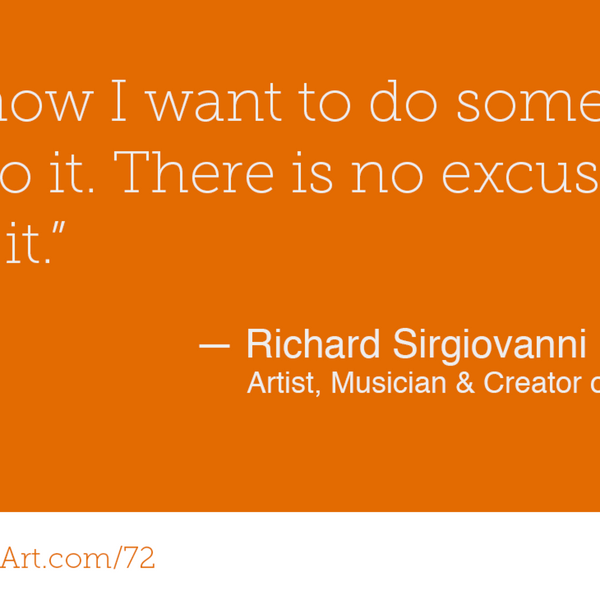 72 - Creating Rock 'n' Roll cartoons with Richard Sirgiovanni