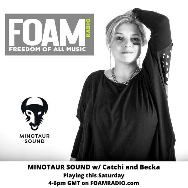 Hard techno with Catchi and Becka artwork